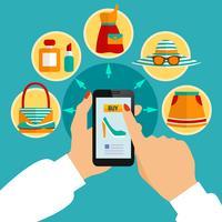 Online Klädaffär Mobil App Sammansättning