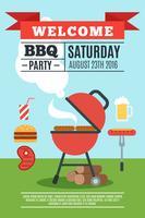 BBQ affisch illustration