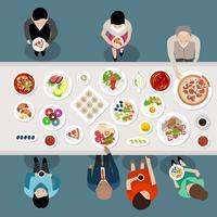 Bankett-Catering-Party-Draufsicht