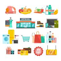 Einkaufszentrum-Symbole vektor