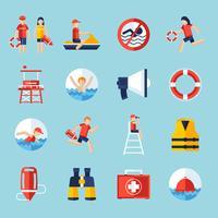 Rettungsschwimmer-Icons gesetzt