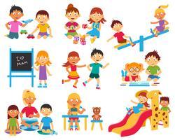 Barnspel ikoner uppsättning