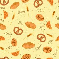 Bäckerei-Brot-nahtloses dekoratives Muster