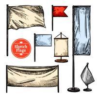 Sketch Flags Set