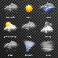 Realistisches Wetter transparent