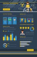 Fußball-Infografik vektor