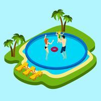 Schwimmbad-Illustration vektor