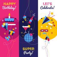 Vertikale Party Banner vektor
