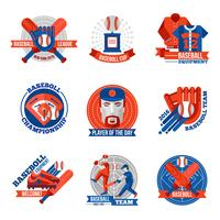 Baseball Emblem Set