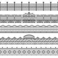 Zäune Border Pattern Set
