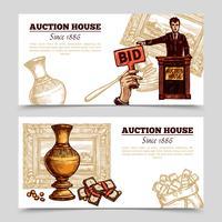 Auktionshaus Hand gezeichnete Banner