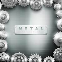 Metal Cogwheel Frame Design Bakgrund