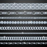 Silverkedjor Set vektor
