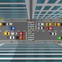 Stadtverkehr Draufsicht