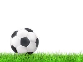 Fotboll boll gräs bakgrund