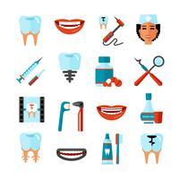 tandvård ikonuppsättning