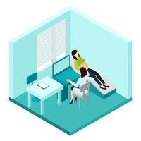 Schwangerschafts-Ultraschall-Scan-Illustration