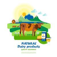 Kvalitetssäkring av naturliga mejeriprodukter vektor
