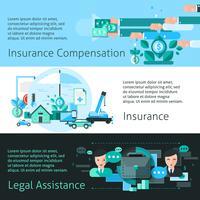 Försäkring och risk Banners Set vektor