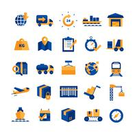Logistik Icons Set