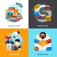 Bilhandlare 2x2 Designkoncept vektor