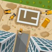 Bau-Draufsicht-Plakat