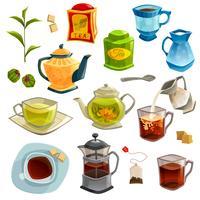 Arten von Tee-Set