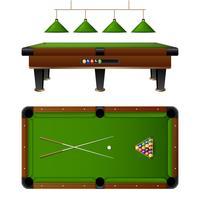 Pool Biljardbord och Möbler Set vektor