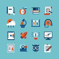 Online-Bildungs-Farb-Icon-Set