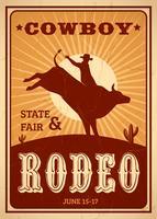 Anzeigen-Rodeo-Plakat vektor