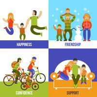 Familien-Design-Konzept