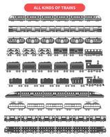 Zug schwarz eingestellt vektor