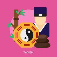 Taoismus konzeptionelle Illustration Design vektor