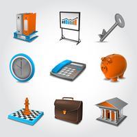 Geschäfts realistische Symbole
