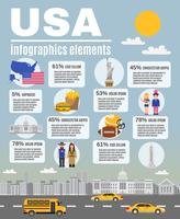 Infographic Layout Poster USA Kultur