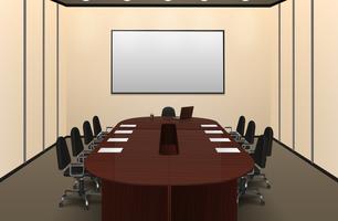 Innenansicht des Konferenzraums vektor