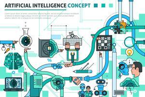 Artificiell intelligensbegreppssammansättning vektor