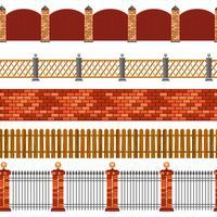 Zaun Seamless Border Set vektor