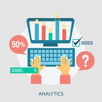 Analytics Konceptuell illustration Design