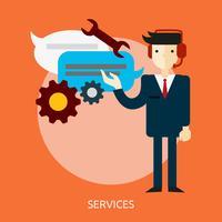 Dienstleistungen Konzeptionelle Illustration Design