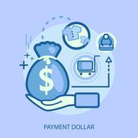 Betalning Dollar Konceptuell illustration Design