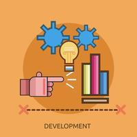 Entwicklung Konzeptionelle Konzeptionelle Illustration Design