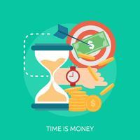 Tiden är pengar Konceptuell illustration Design