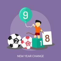 Neues Jahr konzeptionelle Illustration Design