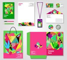 Floral Corporate Identity Vorlagen eingestellt