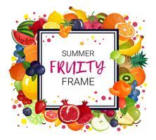 Sommer trägt Rahmen-Hintergrund Früchte vektor