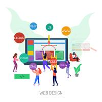 Webdesign Konceptuell illustration Design