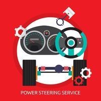 Servolenkung Service konzeptionelle Illustration Design