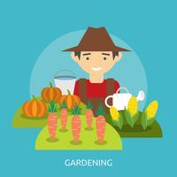 Trädgårdsarbete Konceptuell illustration Design