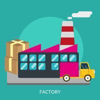 Factory Konceptuell illustration Design